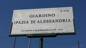 Targa Giardino Ipazia Di Alessandria
